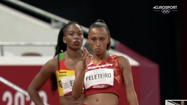 Ana Peleteiro en la última prueba olímpica en Tokio.
