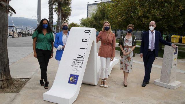 Inauguración de la escultura para promocionar la peregrinación a Santiago por mar