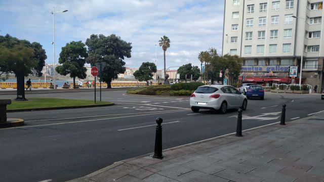 La avenida de Buenos Aires de A Coruña, donde estaba el altar a Samuel.
