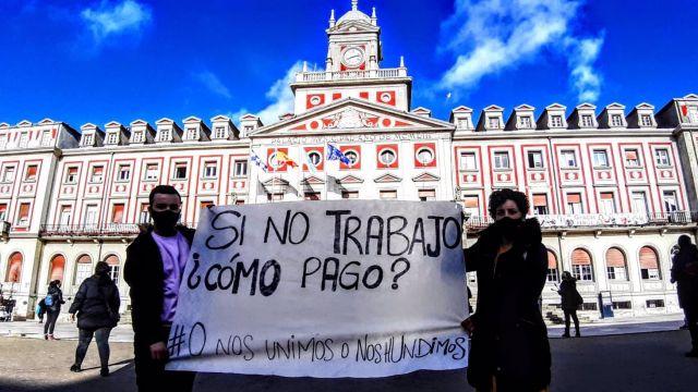 Movilización de hosteleros y autónomos en Ferrol