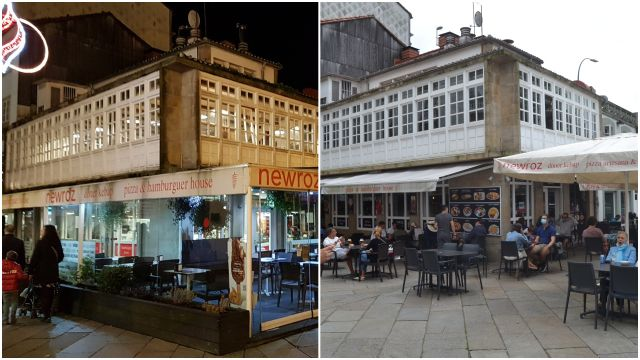 La terraza fija y la actual del antiguo restaurante Alameda.