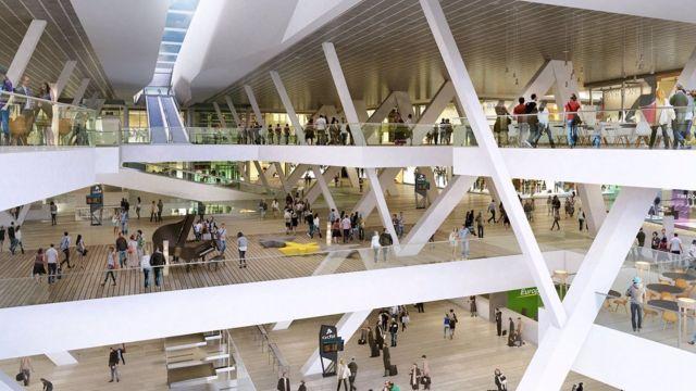 Diseño del futuro centro comercial Vialia Vigo