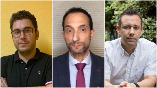 Alexandre Sotelino, Carlos Encisa y Fernando Fraga.