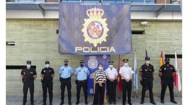 Agentes españoles y portugueses en la Comisaría de Vigo