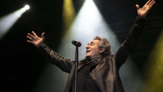 Miguel Ríos en el concierto de ayer en María Pita