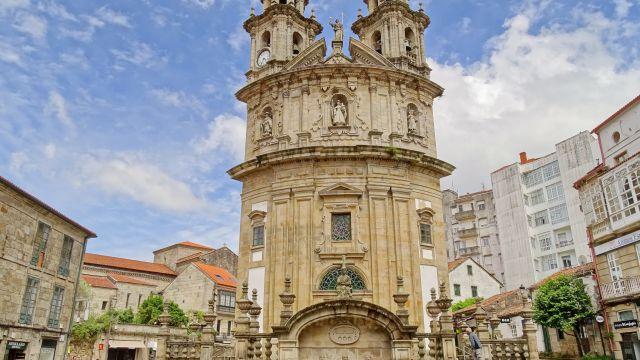 La iglesia de la Virgen Peregrina en Pontevedra.