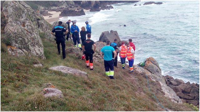 Los equipos de rescate en el punto del suceso.