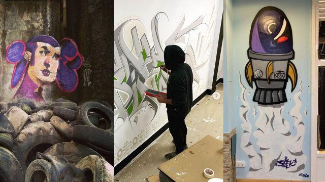 Obras de los 3 artistas que participan en el festival