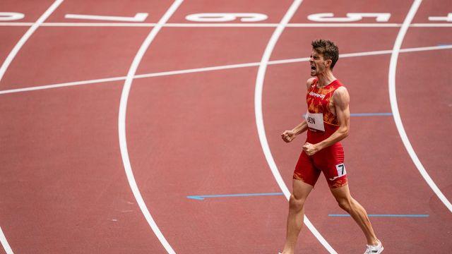 El atleta español Adrián Ben en los Juegos Olímpicos de Tokio.