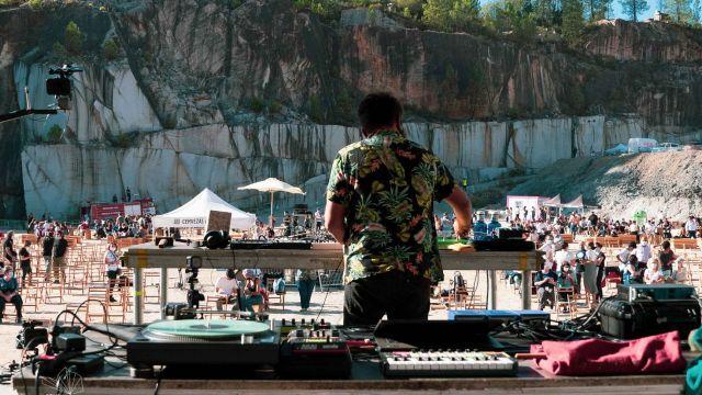 Concierto de uno de los DJ durante la pasada edición del festival (Foto de A&B Comunicación e Deseño)