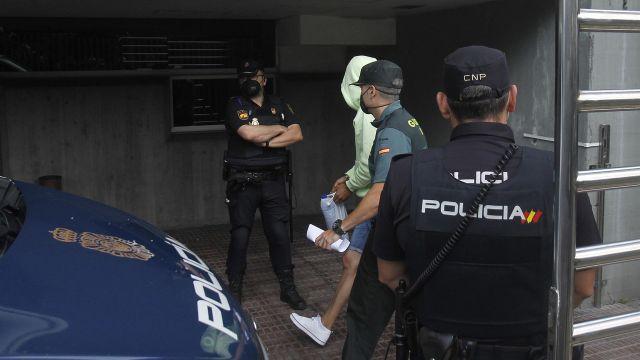 Uno de los acusados por el crimen de Samuel Luiz en el juzgado de A Coruña.
