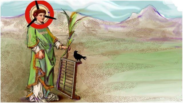 San Lourenzo, patrón del viento.