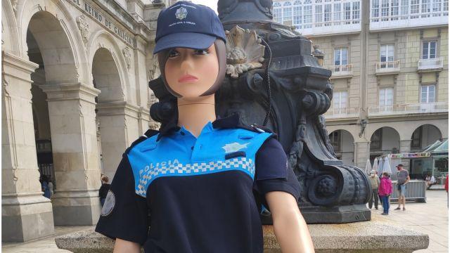 Uno de los muñecos utilizado en las protestas en María Pita.