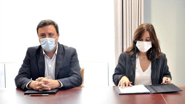 El presidente de la Diputación de A Coruña, Valentín González Formoso, y la alcaldesa coruñesa, Inés Rey.