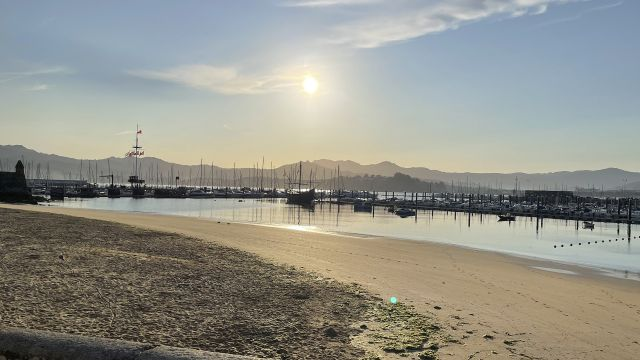 Playa de la Ribeira en Baiona.