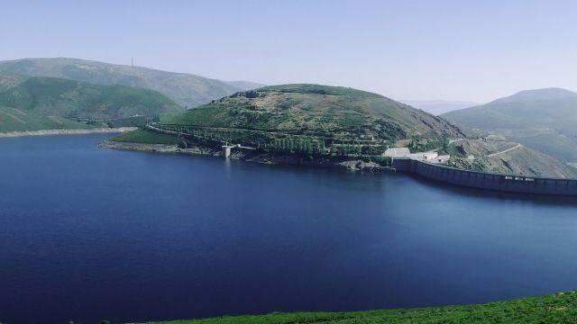 El embalse de Portas, en la provincia de Ourense.