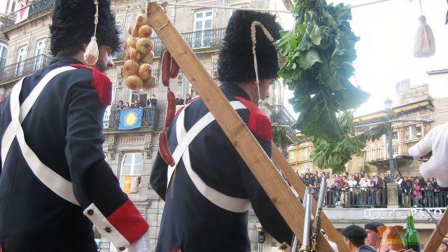 Recreación en una fiesta de la Reconquista en Vigo