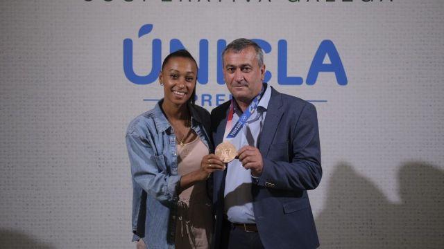 Ana Peleteiro en un evento en la sede de CLUN.