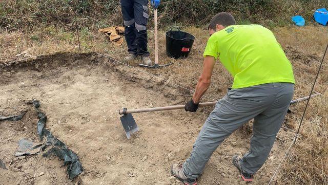 Nueva fase de la excavación del yacimiento de la villa romana de Proendos, en Sober (Lugo).