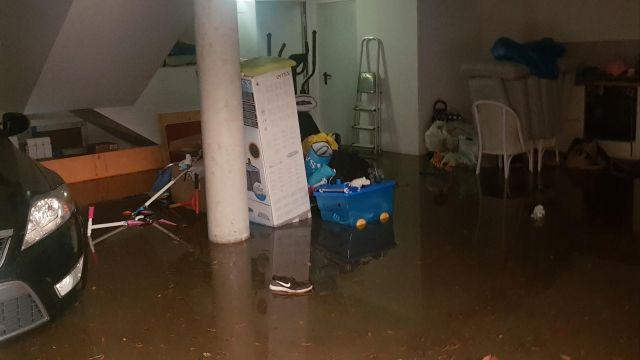 Inundaciones en San Pedro de Nós.