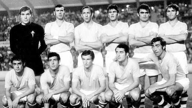 Primer once del Celta que disputó un partido de UEFA en 1971.