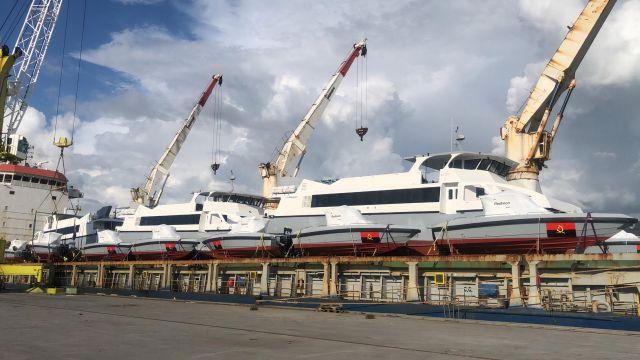 Parte de las embarcaciones entregadas por el astillero Rodman.