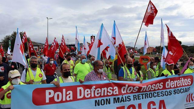 Manifestación de IKF en A Guarda