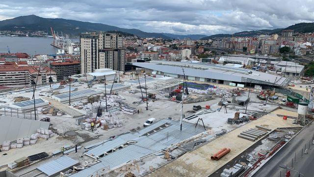 Vista panorámica de las obras del Vialia desde Vía Norte.