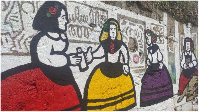 Mural de Rei Zentolo, en Canido.