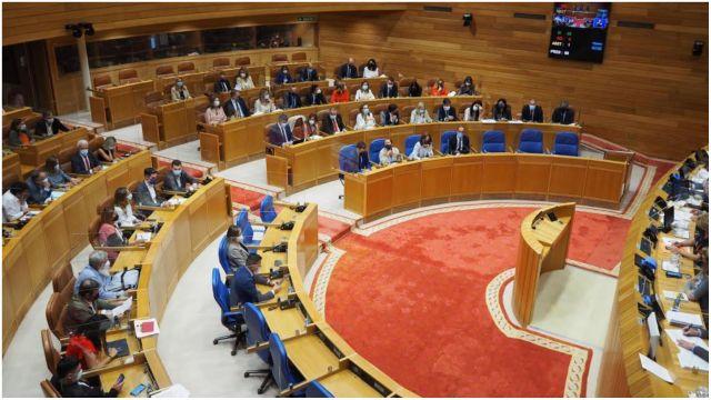 El Parlamento de Galicia en una foto de archivo.