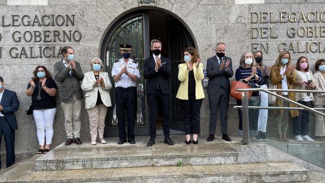Concentración ante la Delegación del Gobierno por el crimen machista de A Coruña.