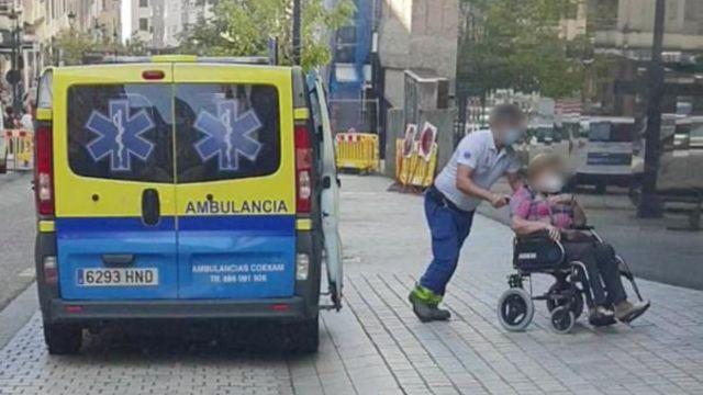 Imagen de archivo de una ambulancia de la empresa Coexam