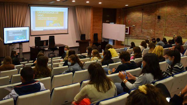 Acto de bienvenida a los alumnos extranjeros.