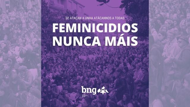 Convocatoria de las concentraciones como respuesta al asesinato de una mujer en A Coruña