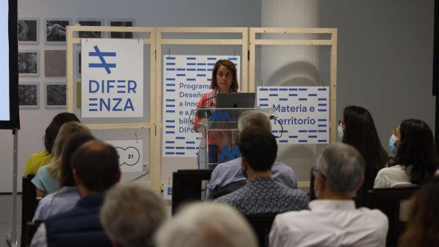 Patricia Argerey durante la presentación de Diferenza