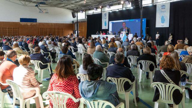 El presidente del PPdeG, Alberto Núñez Feijóo, interviene ante el Congreso Provincial de Lugo