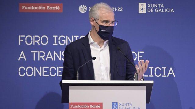 El vicepresidente segundo e conselleiro de Economía, Empresa e Innovación, Francisco Conde, en el Foro Ignicia