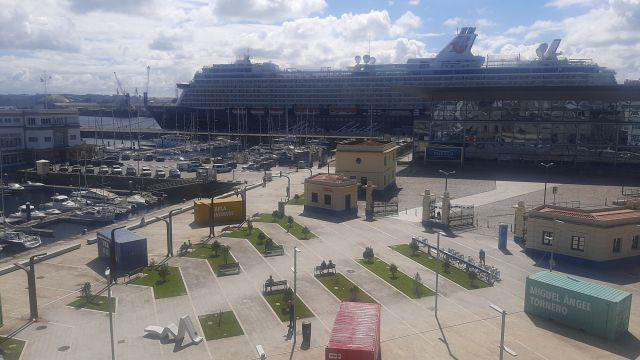 Cruceros esta mañana en el muelle de trasatlánticos
