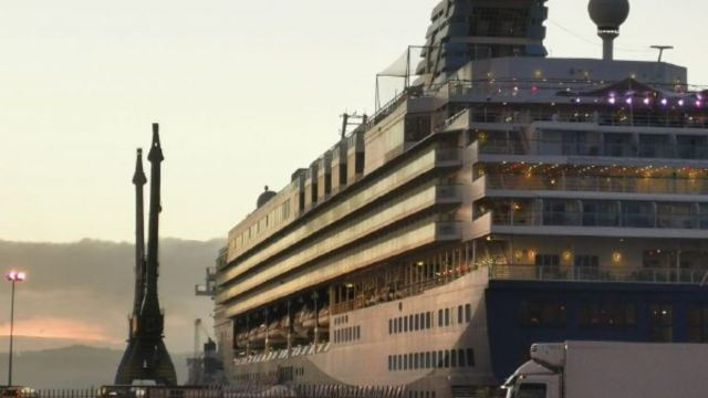 Crucero atracado esta mañana en A Coruña