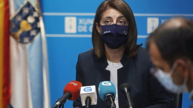 La conselleira de Medio Ambiente, Ángeles Vázquez.