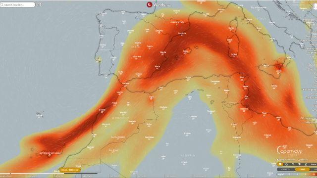 Previsión de avance de los gases del volcán canario