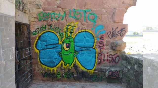 Grafiti realizado en el molino de mareas