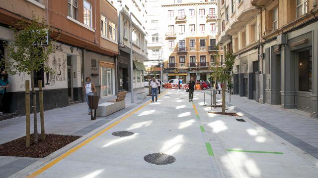La recién reformada calle Pintor Joaquín Vaamonde de A Coruña.