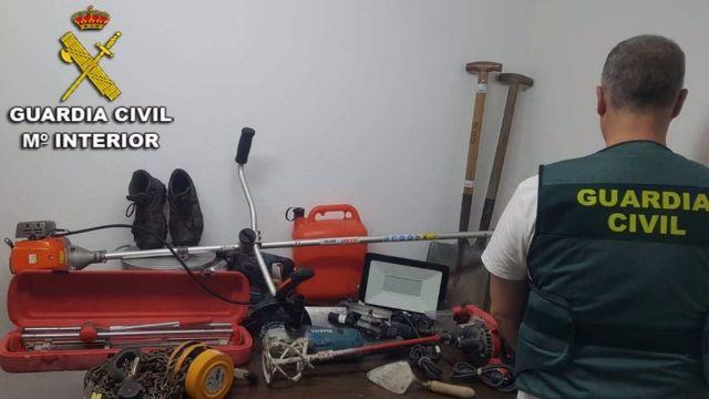 Efectos robados en una vivienda en Nigrán (Pontevedra).