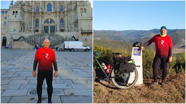 Sergio Cámara tras completar el Camino de Santiago