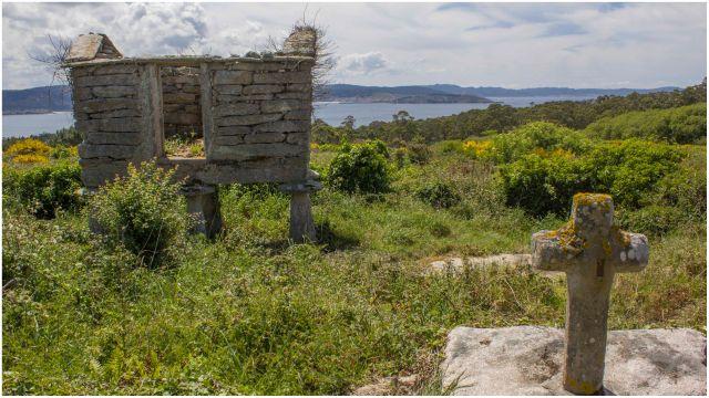 La aldea de Candelago (Corme, A Coruña).