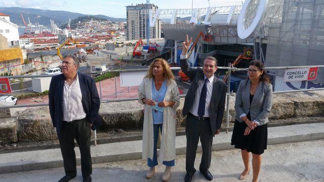 El regidor olívico visitó hoy las obras de la estación de Urzaiz.