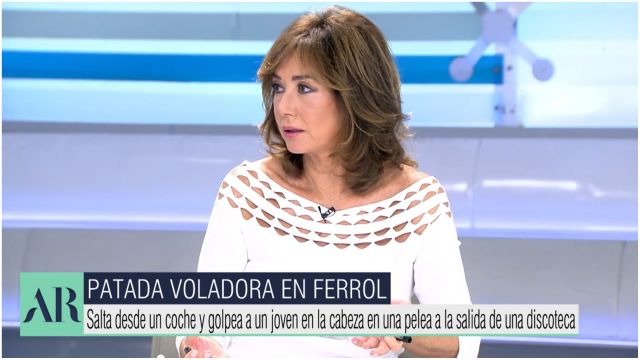 Ana Rosa comenta las imágenes en su programa
