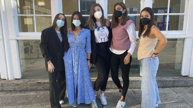 Alumnas creadoras del proyecto 'Sístole'.